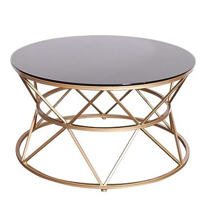 Tavolini Da Salotto In Vetro E Ferro Battuto.Side Table Tavolino Da Salotto Rotondo Tavolo Da Pranzo In