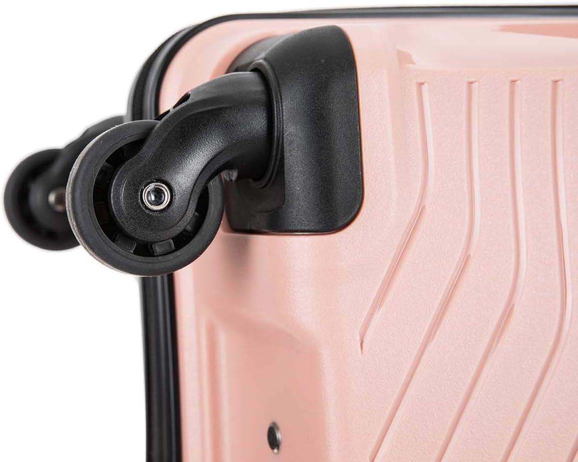 Bagages int/égr/és /à 3 Chiffres Noir Noir 24 Medium Flymax Grande valises sur 4 Roues /à Coque Rigide l/ég/ère et Durable /à Enregistrement en soute