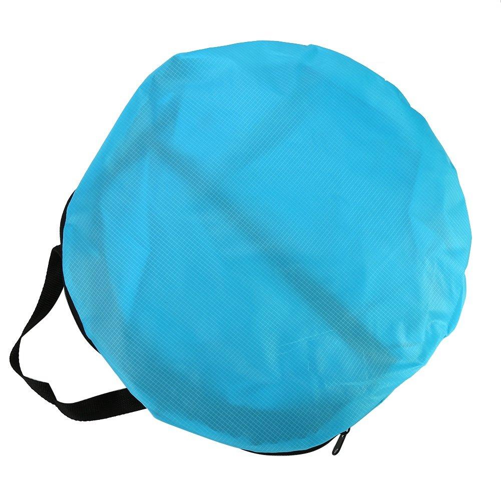 Yosoo Velo di piroga pieghevole trasparente con sacchetto di sistemazione accessori per kayak, blu