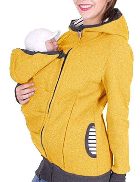 52bc32a52 Top para Mujer Embarazada De Casillero Elegante Manga Modernas Casual Larga  De Maternidad De Enfermería Camiseta De Gran Tamaño con Capucha Chaqueta De  ...