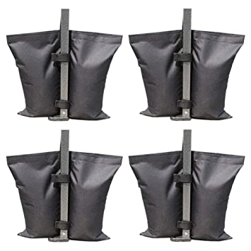 chalkalon 4pcs-Pack Pesos de Grado Industrial Bolsa Pierna Pesos Carpas Peso Bolsas de Arena para Pop-up Carpa con Dosel