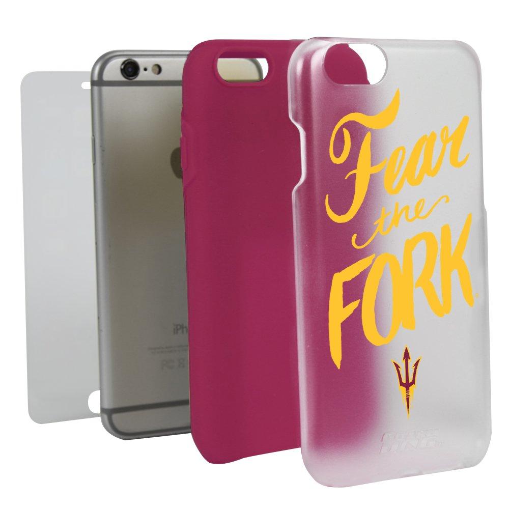 経典ブランド Arizona State Sun Devils Fear theフォーククリアハイブリッドケースiPhone 6 Plus 6 Sun/ Plus 6s Plus用ガードガラススクリーンプロテクター B01N8VMNRC, 興部町:16191083 --- ciadaterra.com