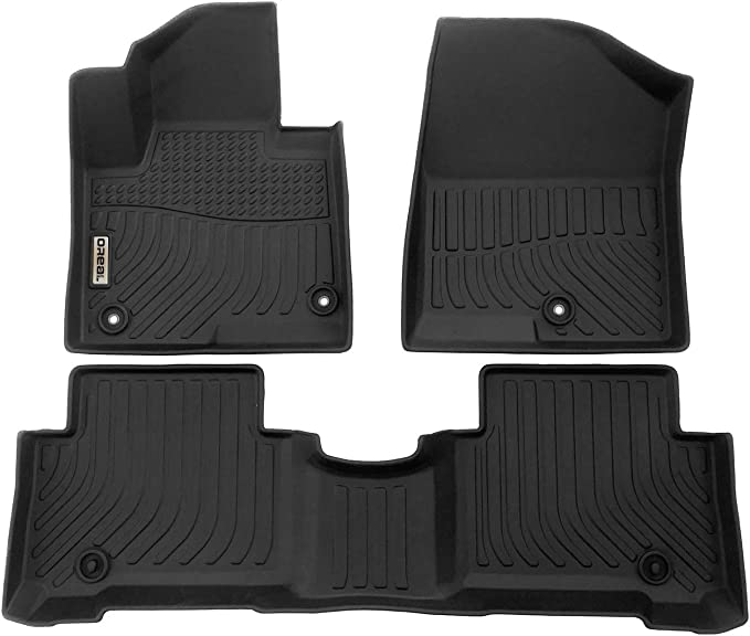 Amazon.com: orealtrend Car Mats Replacement for Floor Liners Hyundai Santa FE Sport 2013-2018 Heavy Duty All Weather Guard Black Front and Rear Car Carpet-Custom Fit-Tough/Durable/Odorless: Automotive