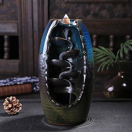 backflow incense burner  : Tongyou Ceramic Waterfall Backflow Incense Burner ...