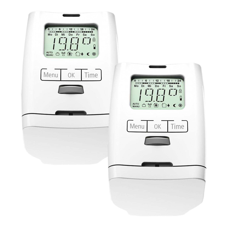 Conjunto de 2 programable para radiadores-termostato (ahorro de energía) HT 2000: Amazon.es: Bricolaje y herramientas