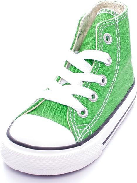 converse bambino verde
