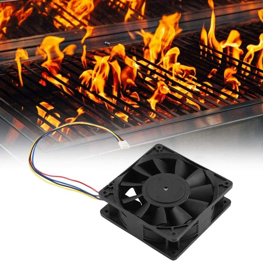 12V 4.8A Durable Cooling Exhaust Fan Industrial Cooling Fan Large Air Flow BBQ Supplies and Equipment 12V Cooling Fan Yencoly Industrial Cooling Fan
