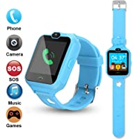 PHRtoy Smart Watch for kids, Unlocked Cell Phone Watch with [SIM Calls] [Anti-lost SOS] [Camera] [Alarm] [Games] Smart Watch Nice Birthday Gift for Kids, Boys and Girls (blue)