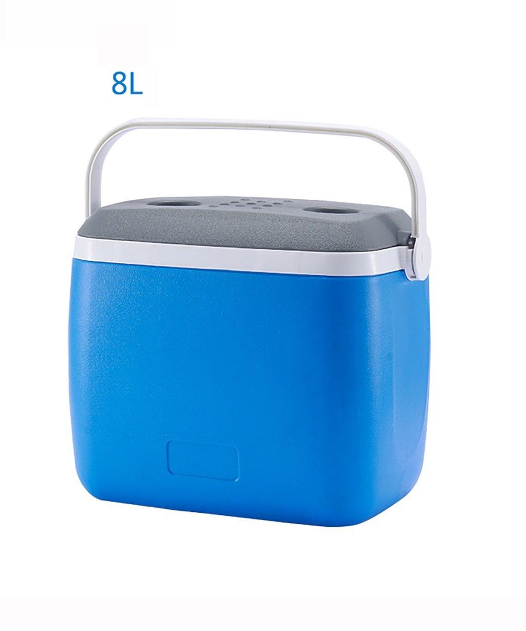 LIQICAI Glacière Coffre de refroidissement en plastique de petites boîtes de refroidissement avec poignée - 8L/28L (taille : 8L)