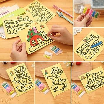 Amazon Com Ybpineer 50 Pcs Kids Diy Color Sand Painting Art