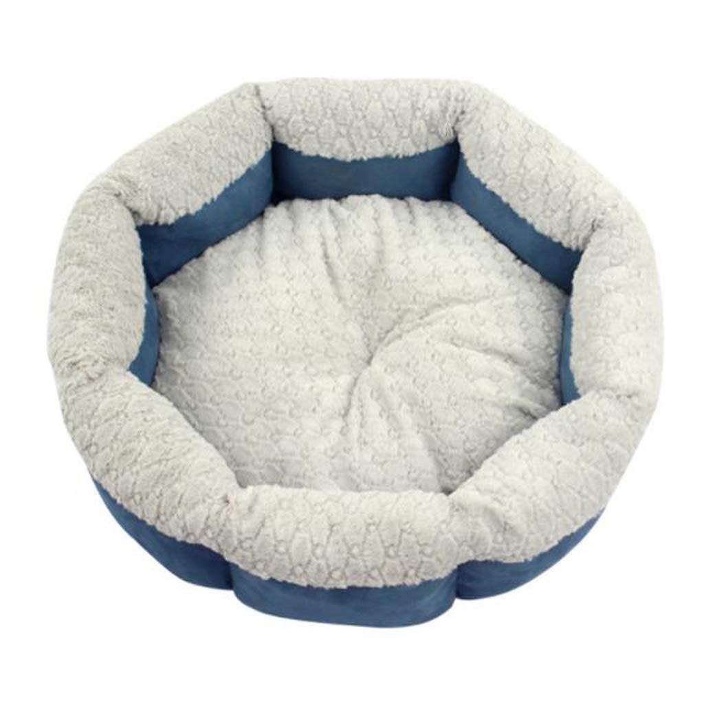M 4848cm Kennel QIQIDEDIAN Pet Nest Dog Cat Nest Winter Warm Small Dog Cat Litter Cushion Sofa Yurt Pet Supplies (Size   M 48  48cm)