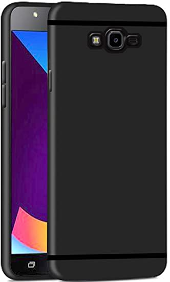 pretty nice 9e356 3c25d Thinkzy Matte Finish Soft Back Case Cover For Samsung Galaxy J2 (2017) -  Black