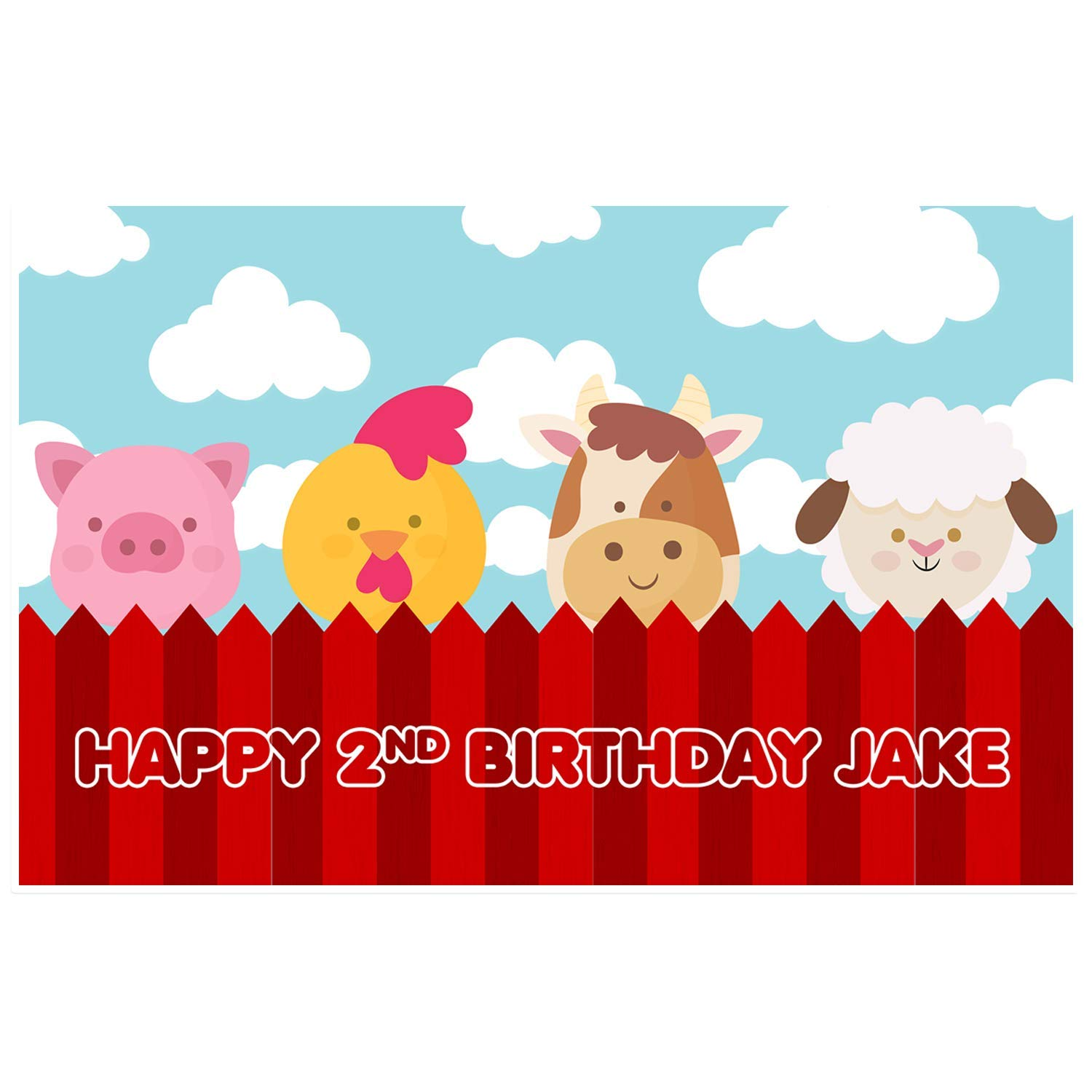 Farm Animal Birthday Personalized Party Table Placemat Decoration