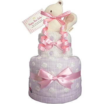 843a31e4130ab おむつケーキのKanonBaby s オーガニック 出産祝い 人気 女の子 マスコットガラガラ 今治タオル ガーゼ 赤ちゃん 内祝い