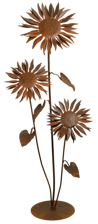 Amazon.com : Patina Products S665 Large Sun Flower Garden Sculpture : Wind  Sculptures : Garden U0026 Outdoor