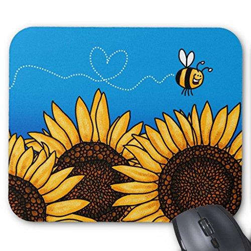 Bee Trail Sunflower (Zazzle Bee Trail Sunflower Mousepad)