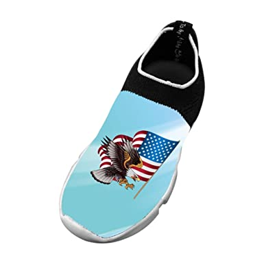 Sports Flywire Knitting Sports Shoes For Unisex Kids,Print Eagle Flying,