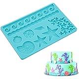 ELINKA Silicone Seashell Sea Life Fondant and Gum Paste Candy Cake Baking Mold For Cake Decorating Sealife Style…