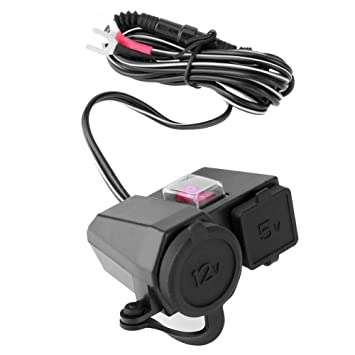 Asiright - Cargador de teléfono impermeable para motocicleta ...