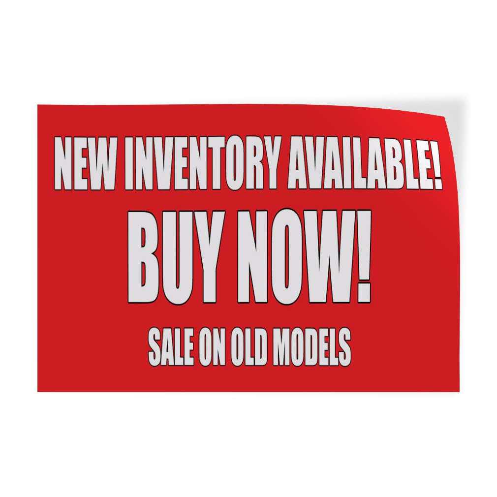Set of 5 28inx20in Decal Sticker Multiple Sizes New Inventory Available Buy Now Sale Business Newly Stocks Arrive Outdoor Store Sign Red