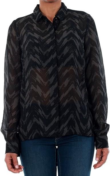 Vero Moda Camisa Mujer Negro 10195565 VMKATINKA L/S Shirt SB1 Black/Katinka: Amazon.es: Ropa y accesorios