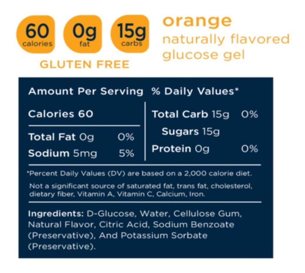 Transcend 15g Orange Glucose Gels in 3-Packs 6
