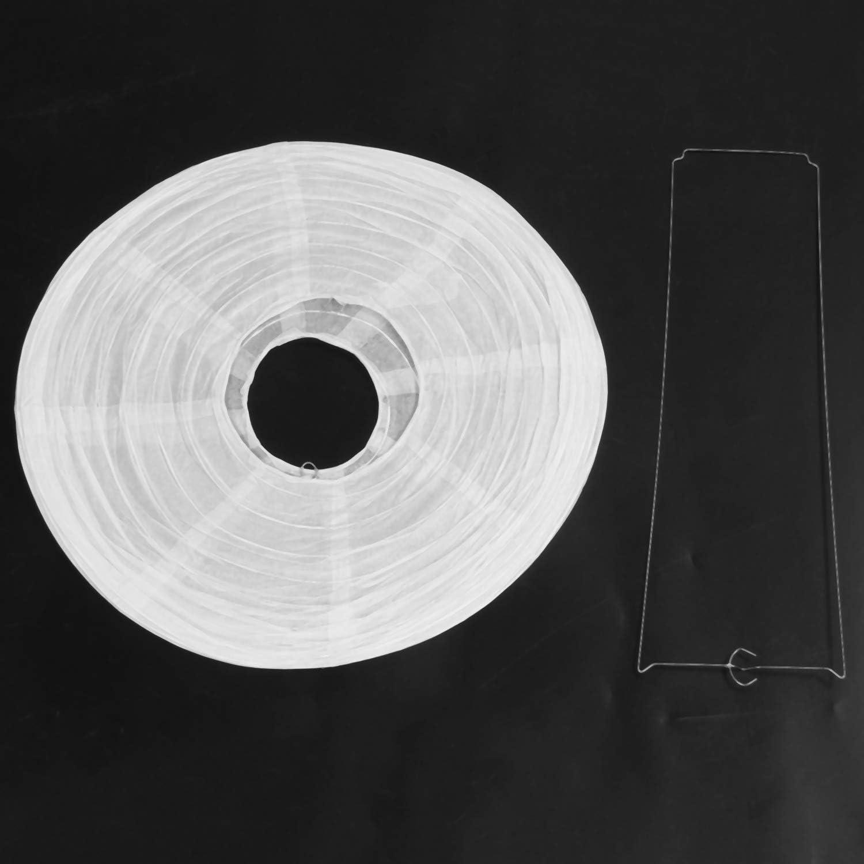 Andifany 1 X Abat-Jour De Lanterne en Papier Japonais Chinois pour Mariage De F/êTe,40cm 16 Pouces Blanc Cr/èMe