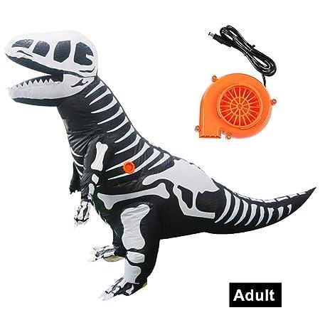 Whiie891203 Disfraz de tiranosaurio de Dinosaurio para Adultos y ...