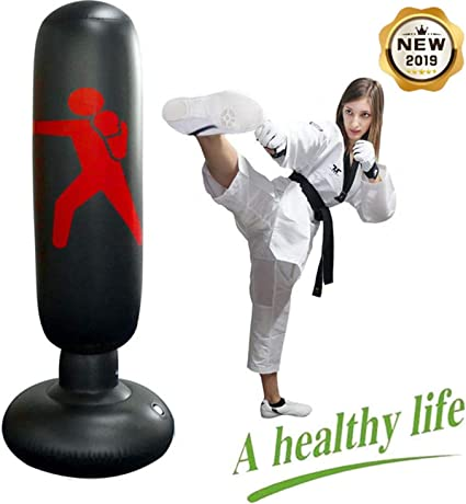 Inflatable Punching Freestanding Fitness Play Boxing Bag for Children Adult
