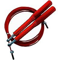 Corda Pular Aço Crossfit 3m Rolamento Speed Profissional Vermelho