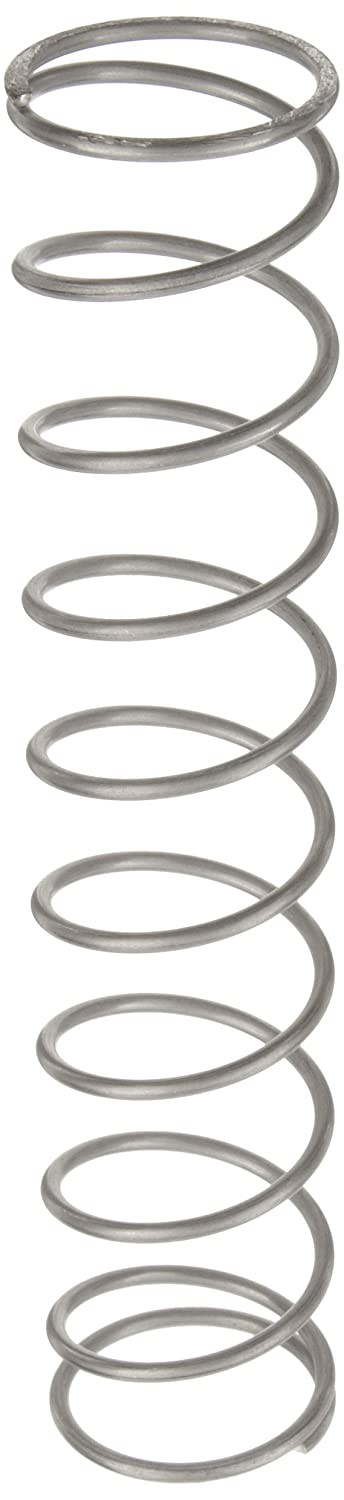 Compression Spring Stainless Steel Metric 34.5 mm OD 2.5 mm Wire Size 27.89 mm Compressed Length 110 mm Free Length 151.95 N Load Capacity 1.85 N mm Spring Rate Pack of 10