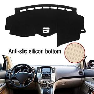 Clidr Anti-Slip Silicon Bottom Dashboard Cover for Lexus RX 300 330 350 2004-2009 Dash Cover Mat (Black Edge)