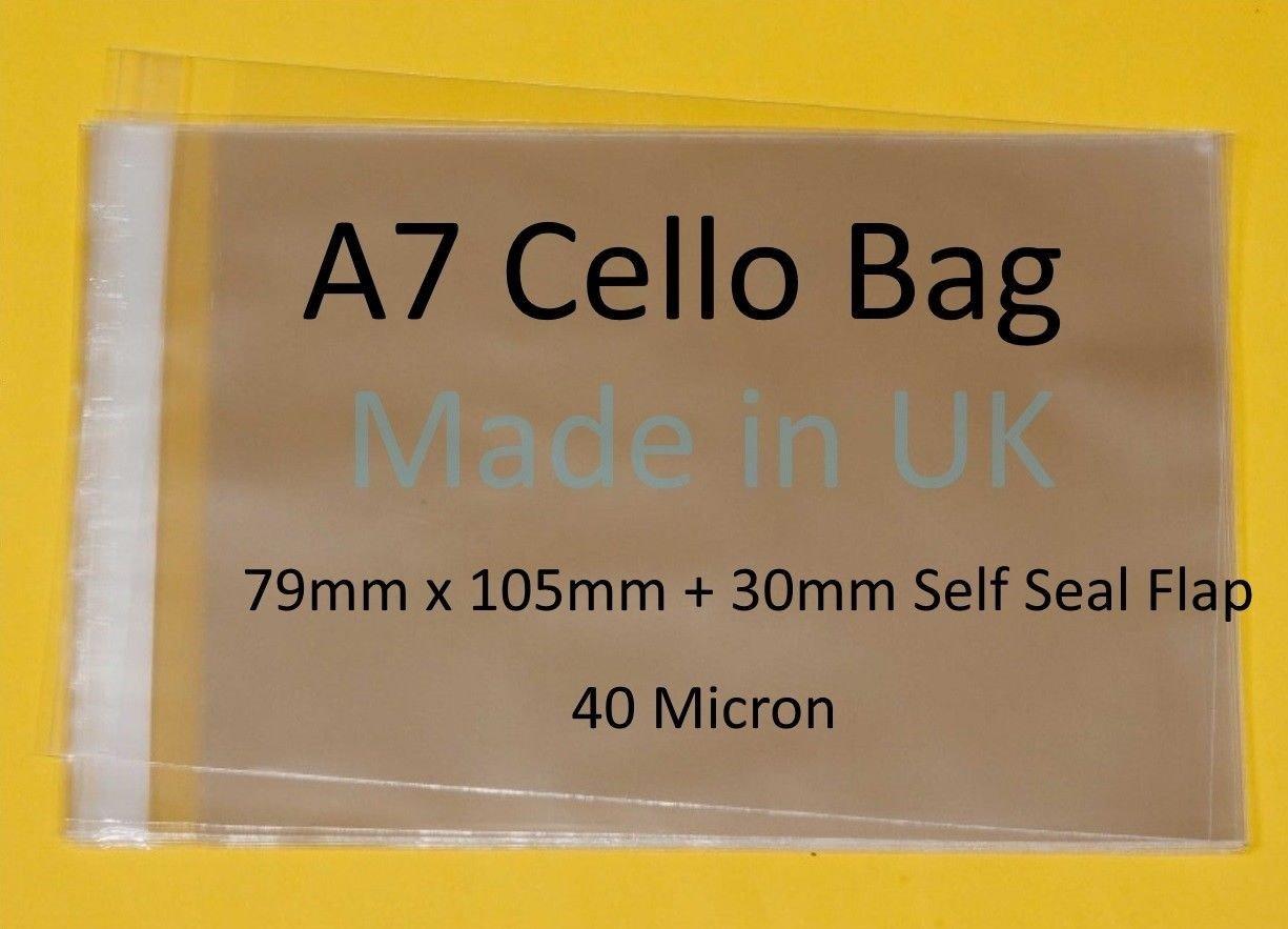 A7 – CELLO Größe 79 mm x 105 105 105 mm  30 mm Klappe – Künstler Display Cellophanbeutel, selbstklebend, Tiny Cello 40 Mikron 79mm x 105mm B07FS2RYJG | Vollständige Spezifikation  | Preisreduktion  | Optimaler Preis  db04bf