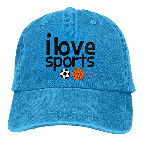 Hainingshihongyu I Love Sport Baseball Caps Adult Sport Cowboy Trucker Hats Adjustable - In Lakeside Mall Stores
