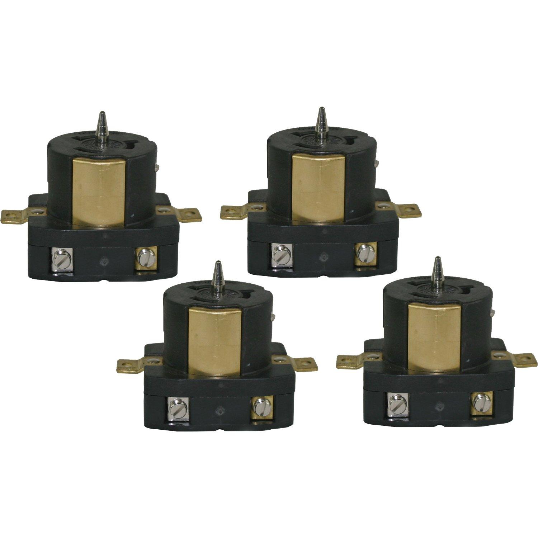CEP 6369M 50 Amp 125-Volt/250-Volt UL/CSA Outlet Female Plugs, 4-Pack
