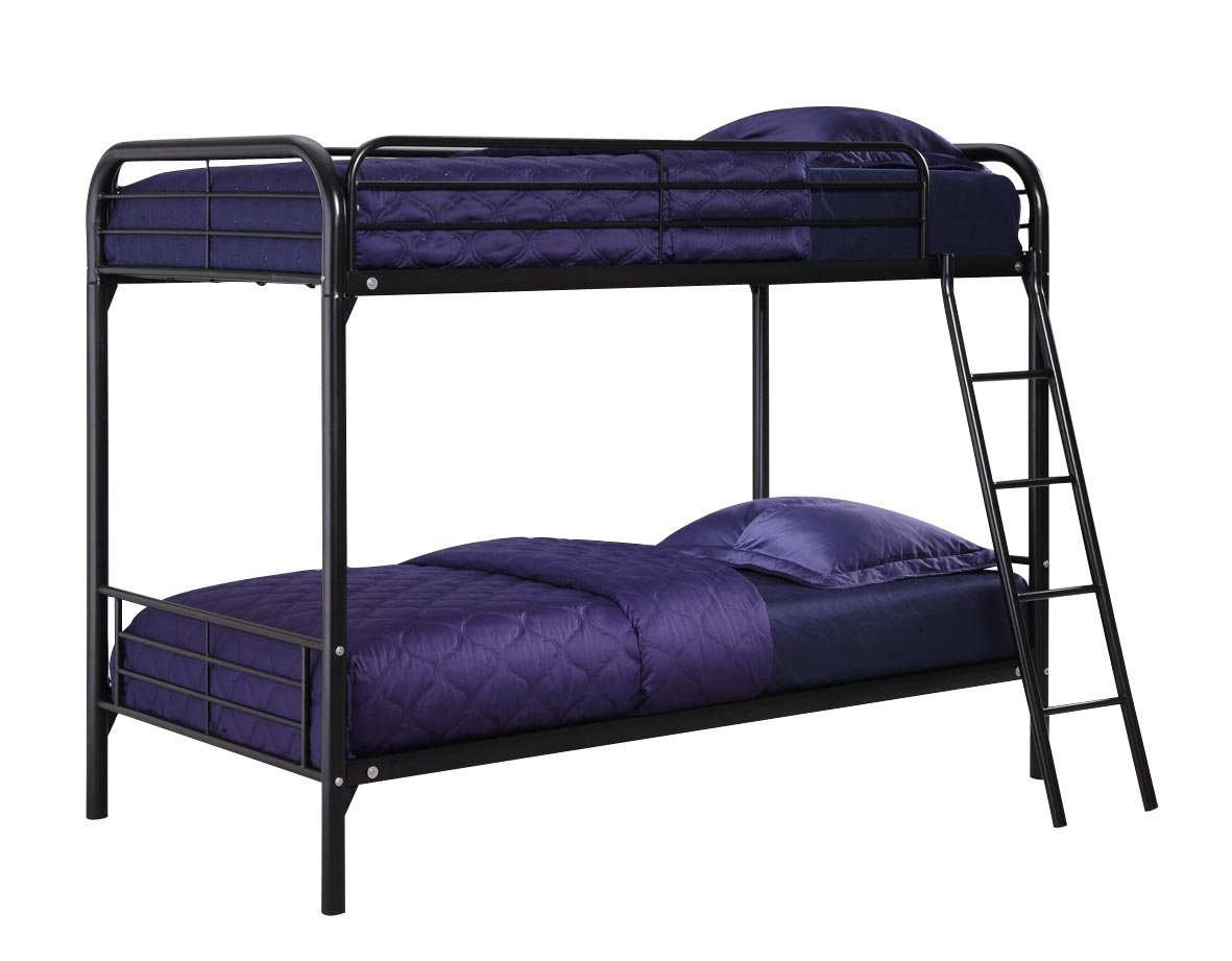 Amazon DHP Twin Over Bunk Bed With Metal Frame And Ladder Space Saving Design Black Kitchen Dining