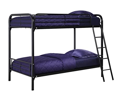 Amazoncom DHP TwinOverTwin Bunk Bed with Metal Frame and