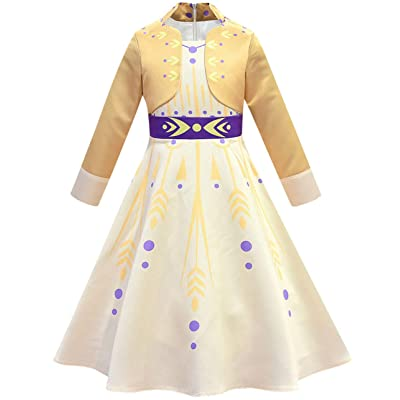 Riekinc Princess Dress Girls Fancy Party Dress Up Performance Cosplay Costume: Clothing