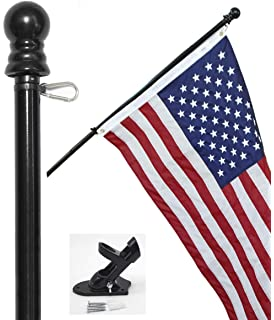 amazon com flag pole kit includes tangle free flagpole flag