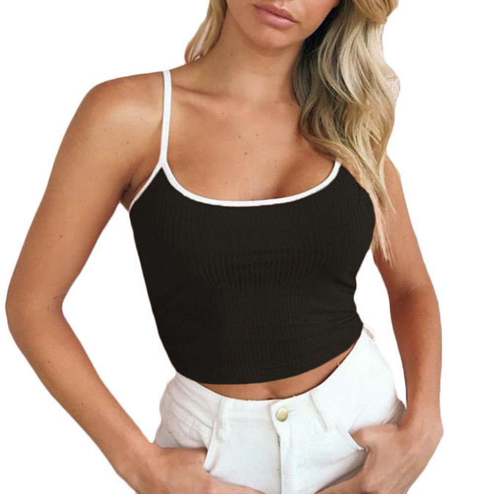 Chaleco de Mujer Camiseta Sin Mangas Espalda Abierta Color sólido ...