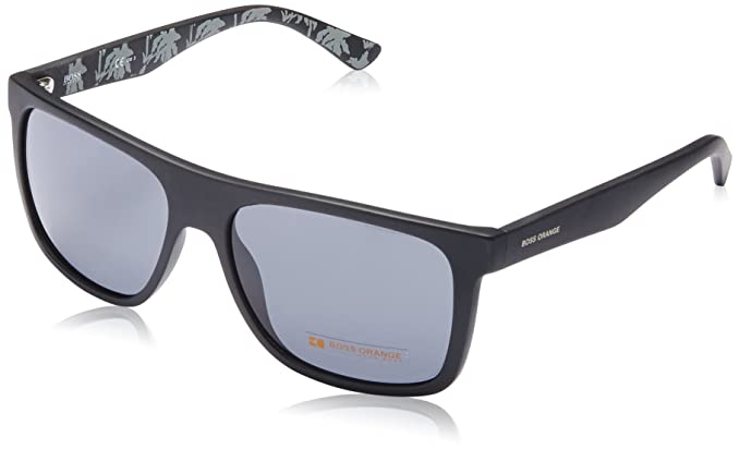 32404a2433b Boss Orange BO 0253 S Q80BN (Matt Black - Black print with Black lenses