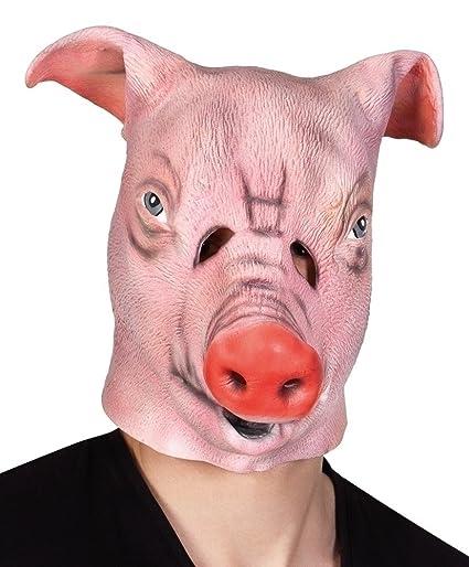 Máscara de cerdo de granja para adulto