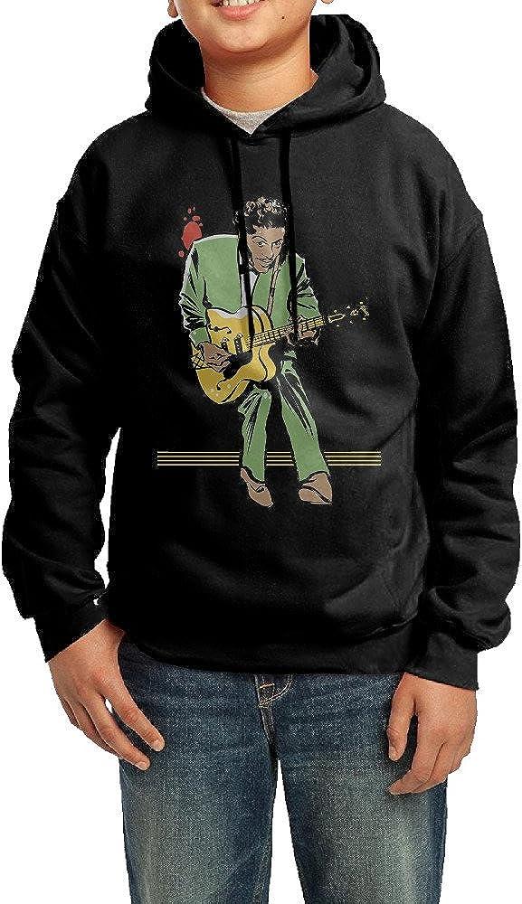 Cute Youth Chuck Berry Singer Hoodie Sweatshirt.