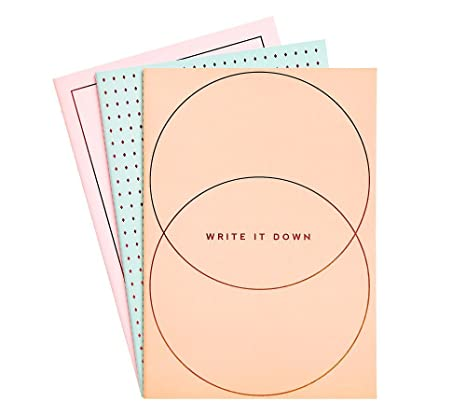 Amazon.com : kikki.K A4 Essential Notebooks 3Pk: Energise ...