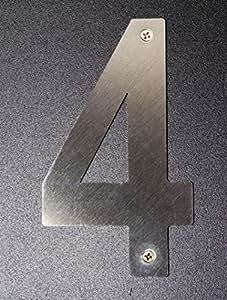 Número 4 Acero Inoxidable Satinado 150 mm
