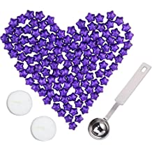 Wax Seal Candles, Star Wax ,Sealing Wax For Postage Letter Retro Vintage 150pcs (Purple)