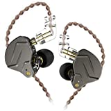 KZ ZSN Pro Dynamic Hybrid Dual Driver in Ear Earphones Detachable Tangle-Free Cable Musicians in-Ear Earbuds Headphones (Gray