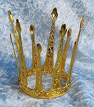 M/ärchen Metallkrone Modell M Kr/önchen Krone Gold elegant Prinzessinnenkrone