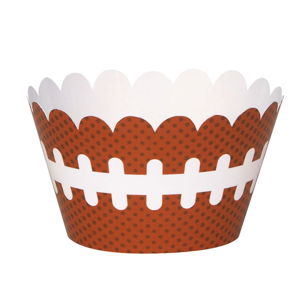 Football Cupcake Wrappers 12ct Unique 63403