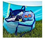 One Step Ahead Sand Away Large Mesh Beach Bag Tote Foldable Carry All Travel Shoulder Tote Bag